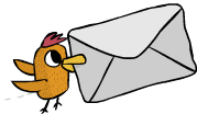 Drawing mail bird